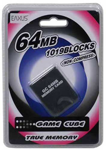 Wii Memory Card 64MB (1019 Block) nur für Game Cube Spiele