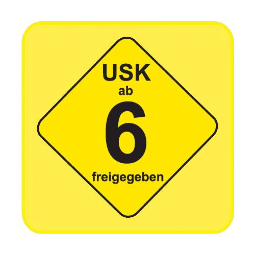 USK-Aufkleber USK: 6 gelb 100-er Pack
