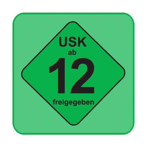 USK-Aufkleber USK:12 grün 100-er Pack