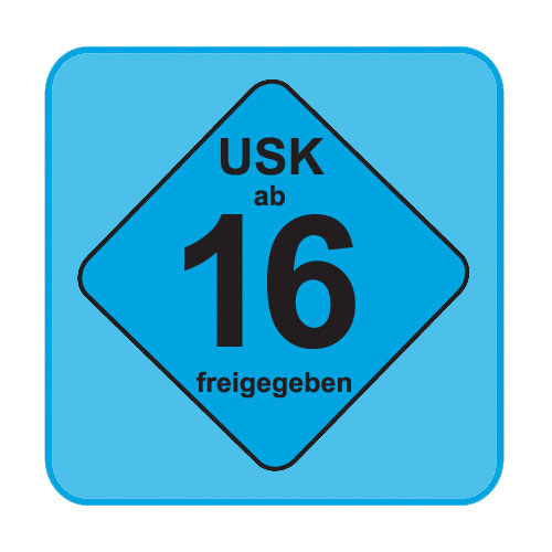 USK-Aufkleber USK:16 blau 100-er Pack