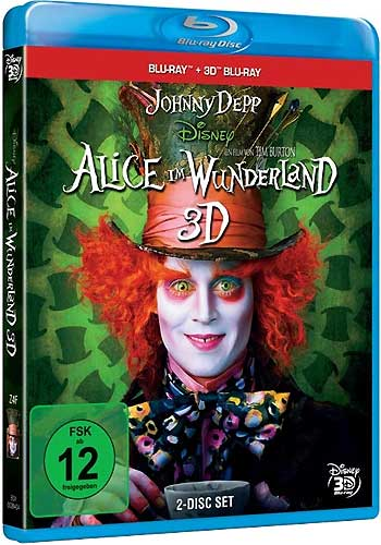 Alice im Wunderland #1 (BR) 3D&2D 2Disc Min: 108/DD5.1/WS   Jonny Depp