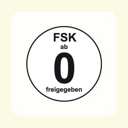 FSK-Aufkleber FSK:  0 weiß 100-er Pack