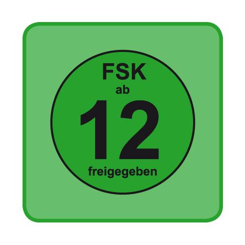 FSK-Aufkleber FSK: 12 grün 100-er Pack