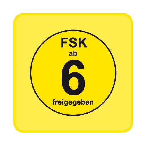 FSK-Aufkleber FSK:  6 gelb 100-er Pack