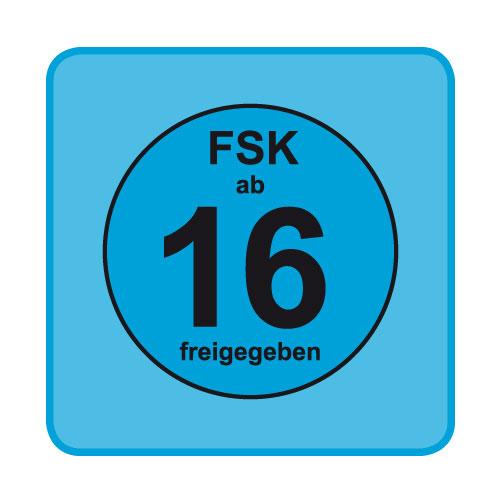 FSK-Aufkleber FSK: 16 blau 100-er Pack