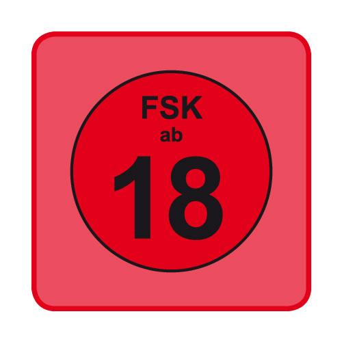 FSK-Aufkleber FSK: 18 rot 100-er Pack