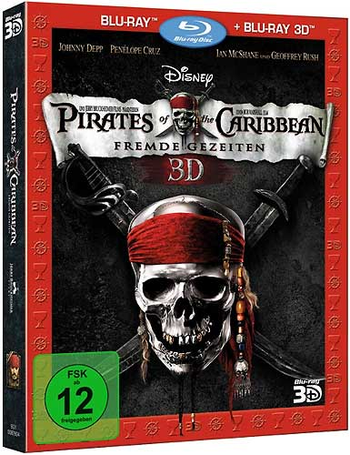 Fluch der Karibik 4 (BR) 3D+2D  2Disc Pirates of the Caribbean Fremde Gezeiten Min: 137/DD5.1/WS