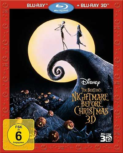 Nightmare Before Christmas (BR) 3D/2D Min: 76/DD5.1/WS 2BRs *temporär lieferb.