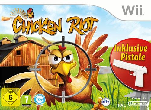Chicken Riot + Pistole  Wii