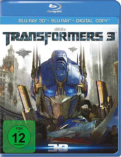 Transformers #3 (BR) 3D-Superset 3Disc's Transformers: Dark of the Moon  3D+2D/BR Min: 154/DD5.1/WS