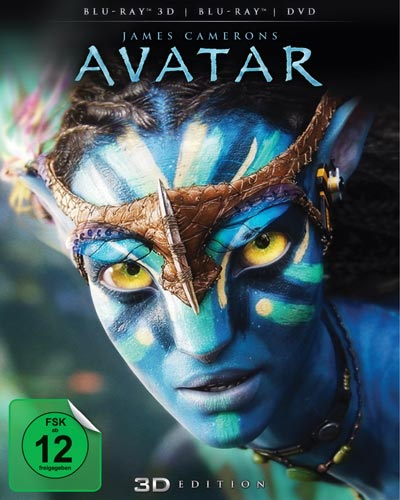 Avatar - Aufbruch nach Pandora (BR) -3D- BR-3D/BR/DVD    Combo-Pack mit O-Ring Min: 162/DD5.1/WS