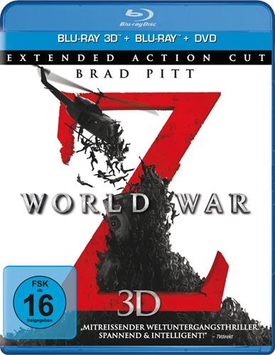 World War Z (BR+DVD) 3D-Superset, 3Discs 3DBR & DVD Kinofassung,2DBR Extended Cut Min: 115+111+123/DD5.1/WS
