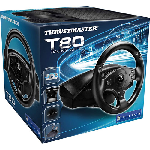 PS4 Lenkrad T80 RS  inkl. Pedale Thrustmaster