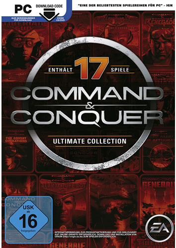 C & C  Ultimate Collection  PC  AK (DLC) Command & Conquer  (Code in Box)