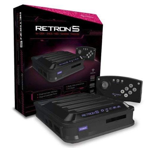 Retron 5  Konsole schwarz (GBA/SNES/NES/MEGADRIVE/FAMICOM)
