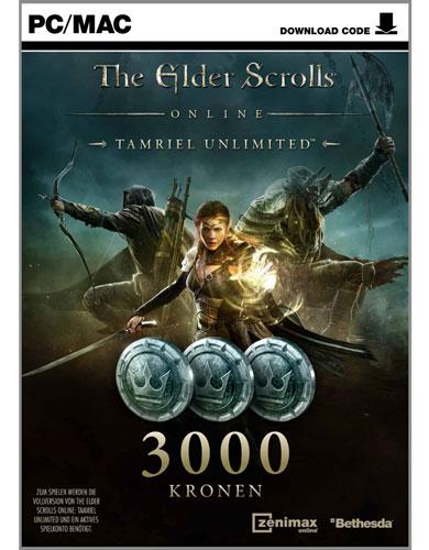 Elder Scrolls  Online Tamriel 3000 Krone Prepaid-Karte  Code in Box