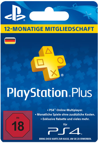 PSN LiveCard PLUS  12 Monate PS4PS3PSV  PlayStation Network