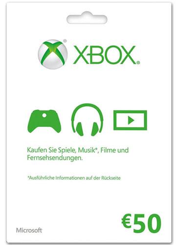 XBLive  Pin 50 Euro Code wird als PDF Datei geliefert (Preis abzüglich Inkasso-Gutschrift)