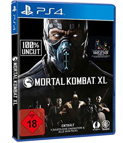 Mortal Kombat XL  PS-4 inkl Pack 1+2 (DLC)