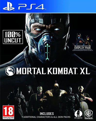 Mortal Kombat XL  PS-4  AT inkl Pack 1+2 / Skin Packs auf CD