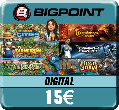 Bigpoint  Pin  15 Euro  Deutschland Code wird per pdf-Datei geliefert