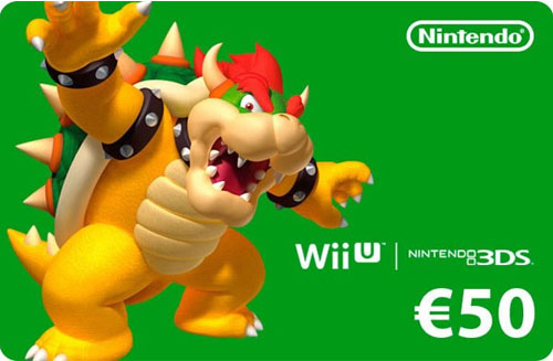 Nintendo Pin  50 Euro Code wird als pdf-Datei geliefert