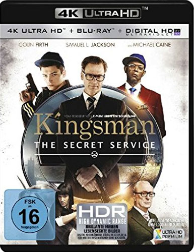 Kingsman #1 - The Secret Service(UHD+BR) Min: 128/DD5.1/WS   2Disc