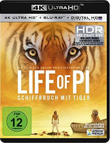 Life of Pi (UHD+BR) Schiffbruch m.Tiger Min: 122/DD5.1/WS  2Disc, 4K