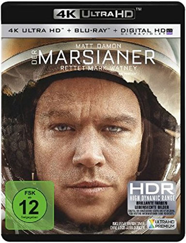 Marsianer, Der (UHD+BR) Rettet Mark Wat. Min: 142/DD5.1/WS   2Disc, 4K Ultra HD