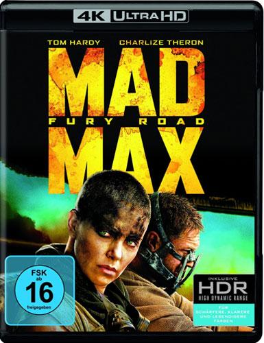 Mad Max #4 (BR+UHD) Fury Road  2Disc Min: 120/DD5.1/WS  4K Ultra HD