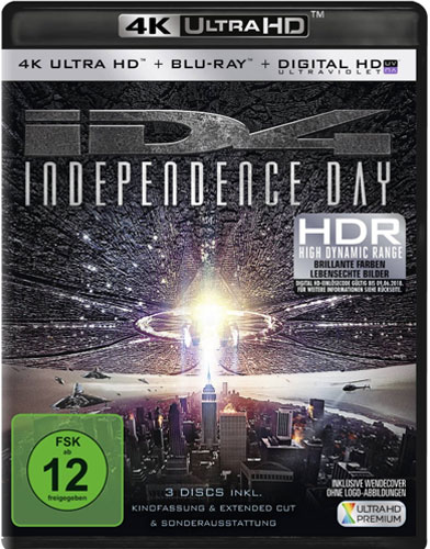 Independence Day #1 (UHD+BR) 3Disc Min:  /DD5.1/WS  4K Ultra HD