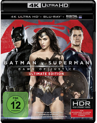 Batman V Superman: Dawn of Justice(UHD) Min: 182/DD5.1/WS  4K UHD  U.E. 2Disc