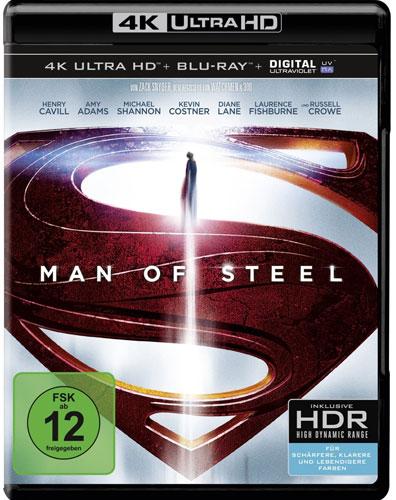 Man of Steel (UHD) Min: 143/DD5.1/WS    4K Ultra HD