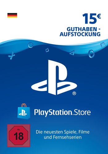 PSN Code  15  Euro Code wird als PDF Datei geliefert PlayStation Network
