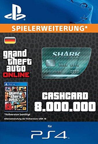 ESD GTA Megalodon Shark Card PS-4 Code wird als PDF Datei geliefert 8.000.000 GTA-Dollar