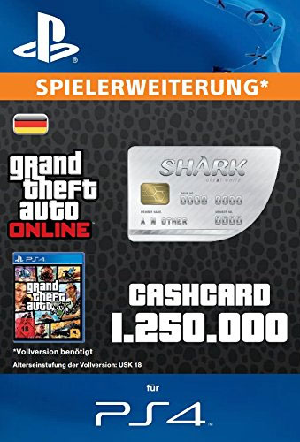 ESD GTA Great White Shark Card PS-4 Code wird als PDF Datei geliefert 1.250.000 GTA-Dollar