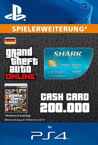 ESD GTA Tiger Shark Card PS-4 Code wird als PDF Datei geliefert 200.000 GTA-Dollar