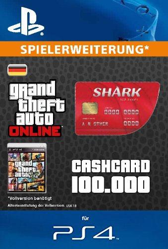 ESD GTA Red Shark Card PS-4 Code wird als PDF Datei geliefert 100.000 GTA-Dollar