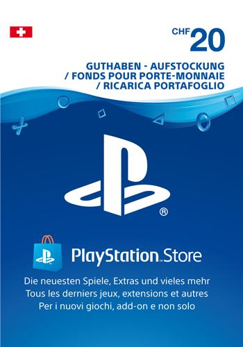 PSN Code  20 CHF Code wird als PDF Datei geliefert PlayStation Network