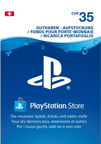 PSN Code  35 CHF Code wird als PDF Datei geliefert PlayStation Network
