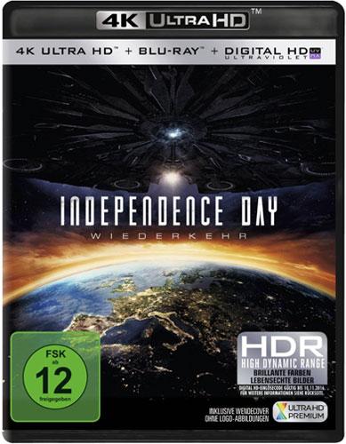 Independence Day #2 - Wiederkehr (UHD)4K Min:  /DD5.1/WS   2Disc, UHD+BR