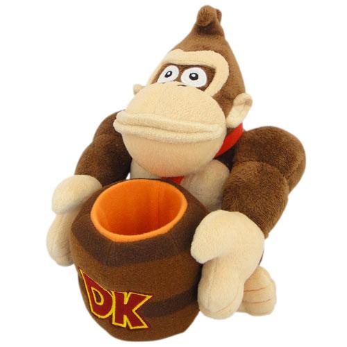 Merc Nintendo Plüsch Donkey Kong 23cm mit Fass
