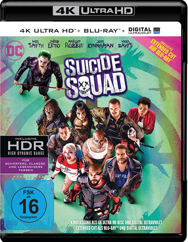 Suicide Squad (UHD) 4K Ultra  E.C. Min: /DD5.1/WS      Extended Cut, 2Disc
