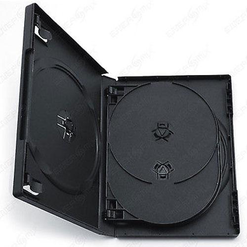Leerhülle DVD Box für 5-DVD schwarz Zubehör