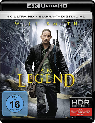 I am Legend (UHD) Blu-R & Digial Ultra Min: 145/DTS-HD5.1/HD-1080p  4K Ultra HD