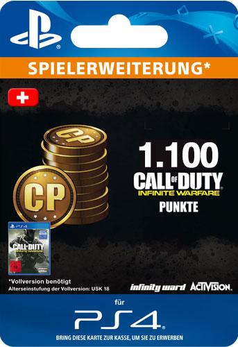 ESD CoD Infinite Warfare 1100 Points CH Code wird als PDF Datei geliefert