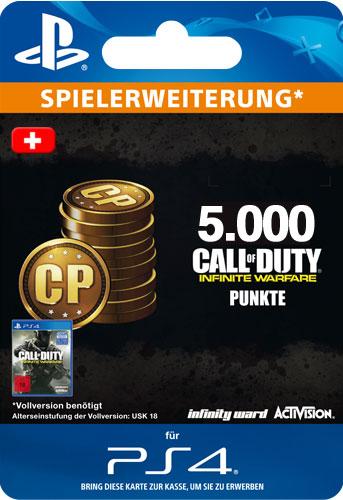 ESD CoD Infinite Warfare 5000 Points CH Code wird als PDF Datei geliefert Einzweckgutschein
