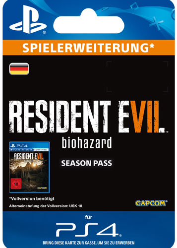 ESD Resident Evil 7 Season Pass Code wird als PDF Datei geliefert Einzweckgutschein
