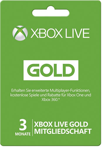 XBLive  Card  3 Monate Gold