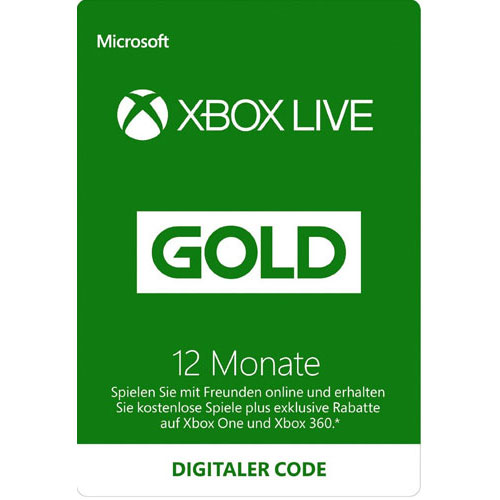 XBLive  Pin  12 Monate Gold